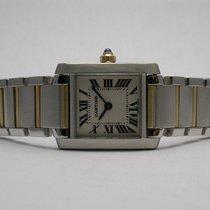 Cartier Tank Francaise Ladies Quartz Stainless Steel &...