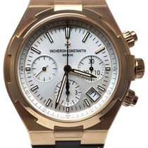 Vacheron Constantin Red gold Automatic Silver No numerals 42,5mm new Overseas Chronograph