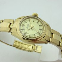 Rolex oyster perpetual lady 1975's in oro 18 kt ref 6719 with box