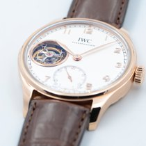 IWC Red gold Manual winding Silver Arabic numerals 43mm pre-owned Portuguese Tourbillon