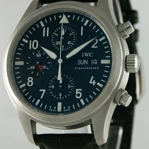IWC Chronograph 42mm Automatic 2008 pre-owned Pilot Chronograph Black