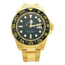 Rolex Gmt-master II 116718ln 18k Yellow Gold 40mm Black Dial...