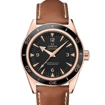 Omega Rose gold Automatic Black new Seamaster 300