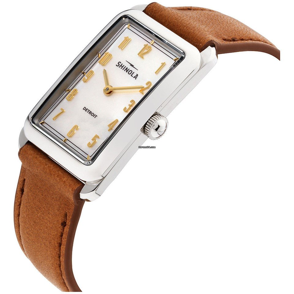 c808708ea Shinola Muldowney Mother Of Pearl Dial Leather Strap Ladies... for £443 for  sale from a Seller on Chrono24