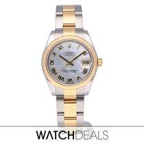 Rolex Lady-Datejust Acero y oro 31mm Blanco
