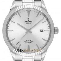 Tudor Style Stahl 41mm Silber Deutschland, Schwabach