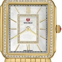 Michele Yellow gold Quartz Roman numerals 26mm new Deco