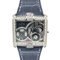 Harry Winston new Quartz Small seconds Gemstones and/or diamonds 36.2mm White gold Sapphire crystal