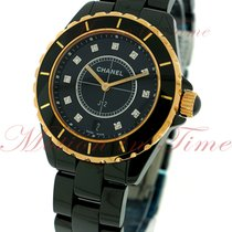 Chanel J12 38mm Quartz, Black Diamond Dial - Black / Pink Gold...