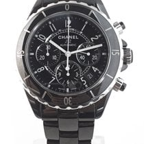 Chanel Chronograph 41mm Automatic pre-owned J12 Black