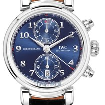 IWC Da Vinci Chronograph Steel 42mm Blue United States of America, New York, Airmont