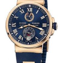 Ulysse Nardin Marine Chronometer Manufacture Pозовое золото 43mm Синий Римские