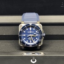 Bell & Ross Steel 42mm Automatic BR03-92 DIVER BLUE new
