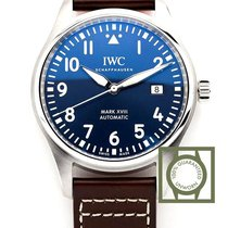 IWC Pilot Mark Staal 40mm Blauw Arabisch
