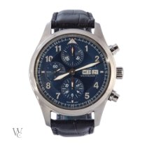 IWC Pilot Chronograph Steel 42mm Blue Arabic numerals United Kingdom, London