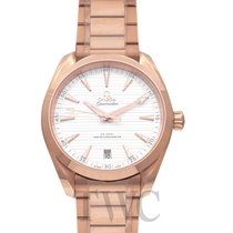 Omega Rose gold Automatic Silver 41mm new Seamaster Aqua Terra