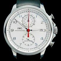 IWC Portuguese Yacht Club Chronograph Acero 45mm Blanco Árabes