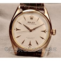 Rolex Red gold Automatic Silver 34mm pre-owned Oyster Perpetual