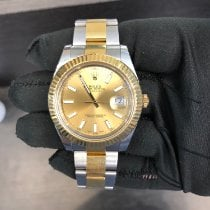 Rolex Datejust II Or/Acier 41mm Champagne Romain