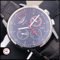 Longines Column-Wheel Chronograph Steel 41mm Black No numerals