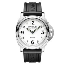 Panerai Luminor Base 8 Days Acier 44mm Blanc Arabes