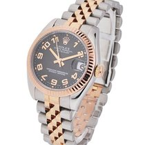 Rolex Used 178271 Mid Size Steel and Rose Gold Datejust -...