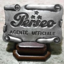 Perseo vintage plaque official agent Steel