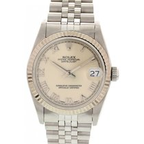 Rolex Midsize Rolex Datejust S/S 18K WG Bezel W/ Papers 68274