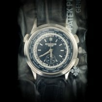 Patek Philippe World Time Chronograph White gold 40mm Blue United Kingdom, London
