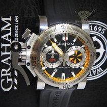 Graham Chronofighter Oversize Diver Turbo Steel Mens Watch...