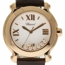 Chopard 36mm Quartz 2012 pre-owned Happy Sport Silver