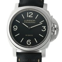 Panerai Luminor Base 8 Days Stal 44mm Czarny