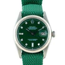 """劳力士  DATEJUST 1601 SS with """"Stella"""" Dark Green Diamond Dial"""