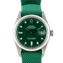 "勞力士 DATEJUST 1601 SS with ""Stella"" Dark Green Diamond Dial"