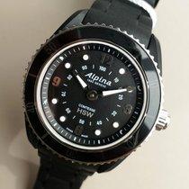 Alpina Carbon Quartz Black Arabic numerals 36mm new