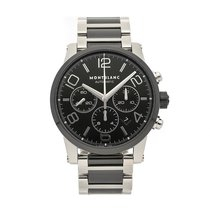 Montblanc Chronograph 43mm Automatic pre-owned Timewalker Black