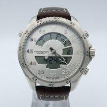 1f08b5449c7 Hamilton Khaki Flight Timer Steel 46mm Silver Arabic numerals. Hamilton  Khaki Aviation Flight Timer Quartz Men s Watch