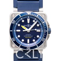 Bell & Ross Automatic BR0392-D-BU-ST/SRB new