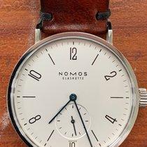 NOMOS Tangomat Datum Acier 38.3mm Blanc Arabes