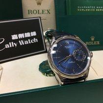 勞力士 Cellini Date 白金 40mm 藍色 無數字 香港, Kowloon