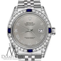 Rolex Lady-Datejust Staal 31mm Grijs Romeins