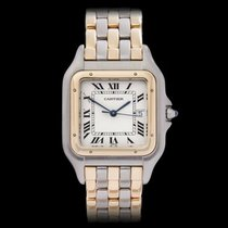 Cartier Panthere 3 Row Stainless Steel & 18k Yellow Gold...