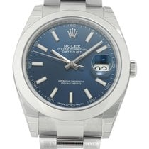 Rolex Datejust II Steel 41mm Blue Index Dial Oyster Bracelet
