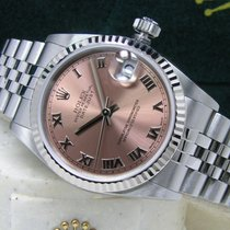 Rolex Lady-Datejust pre-owned 31mm Pink Date Perpetual calendar Steel