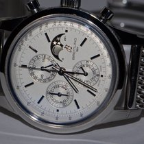 Breitling Transocean Chronograph 1461 Steel 43mm Silver No numerals United States of America, New York, Greenvale