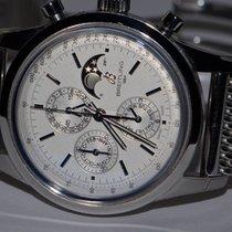 Breitling Transocean Chronograph 1461 Сталь 43mm Cеребро Без цифр