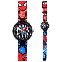 Flik Flak Fall News Spiderman Black Dial Textile Strap Boys...