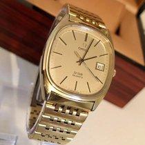 Omega VintageMens De Ville Gold Plated bracelet Quartz + Box