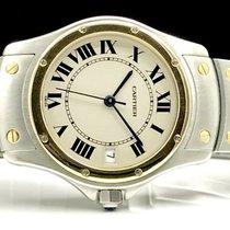 Cartier Santos (submodel) Złoto/Stal 34mm Biały Rzymskie