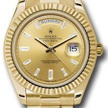 Rolex new Automatic 40mm Yellow gold Sapphire Glass